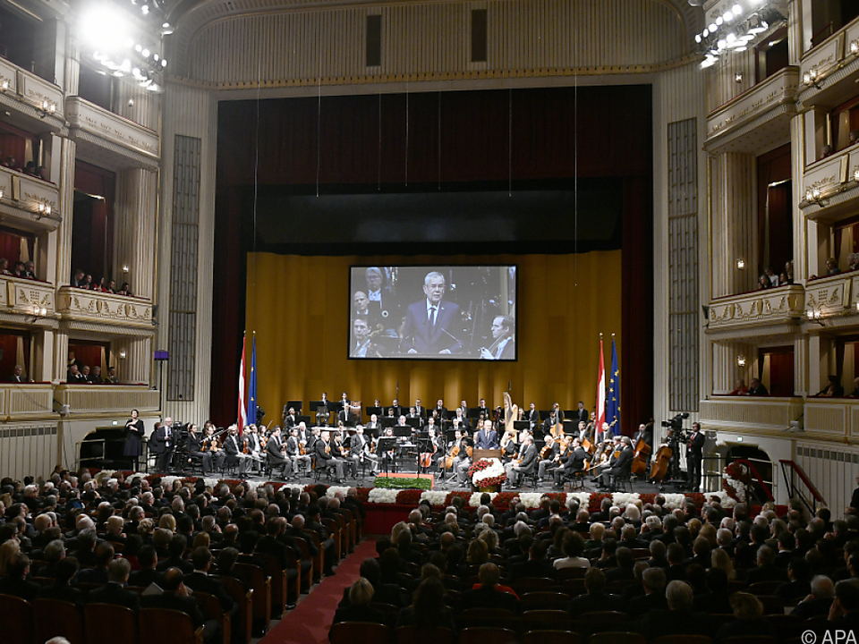 Die Feierlichkeiten finden in der Wiener Staatsoper statt