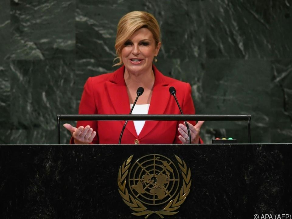 Die kroatische Präsidentin hat gegen den Vertrag Stellung bezogen