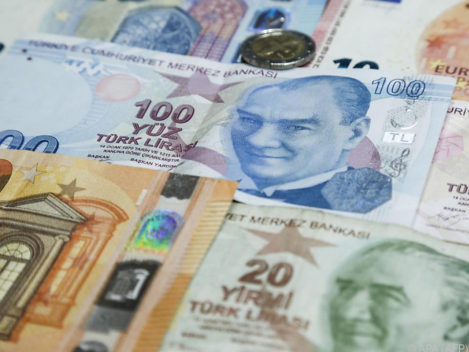 Die türkische Lira verlor stark an Wert