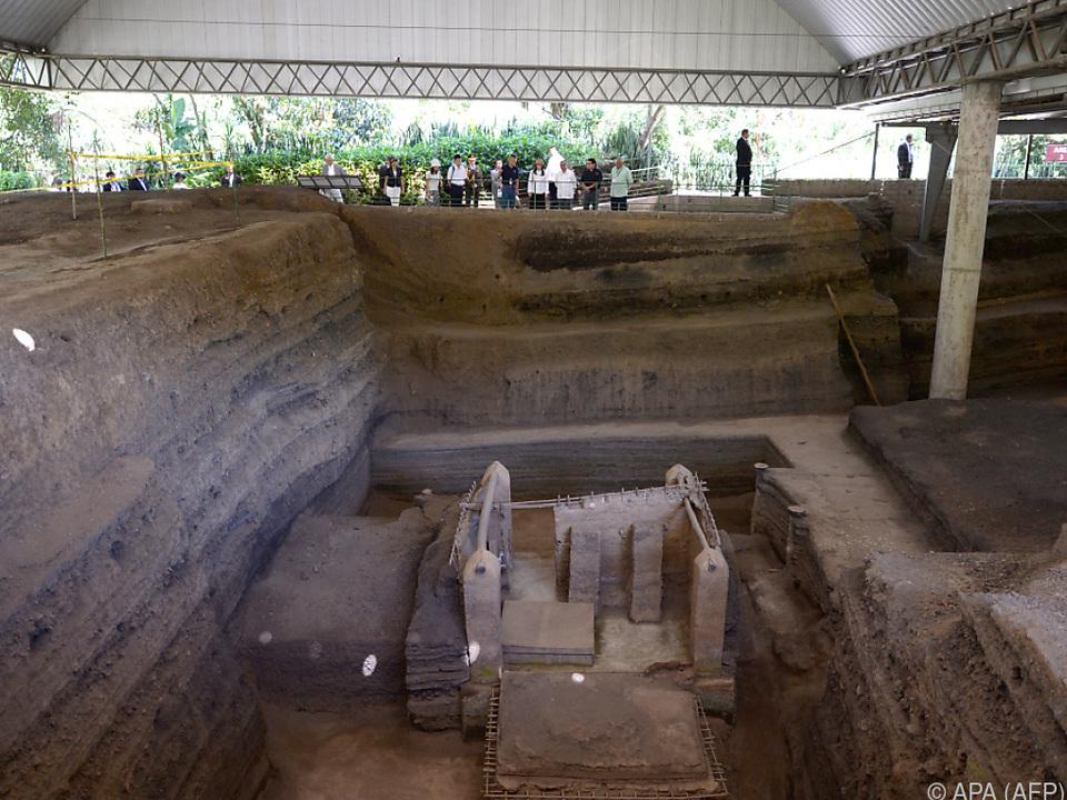 Die Überreste wurden am Standort des früheren Maya-Dorfes gefunden