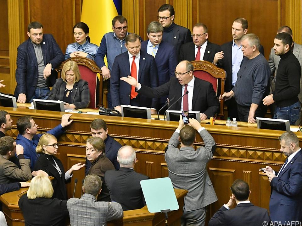 Diskussion im ukrainischen Parlament