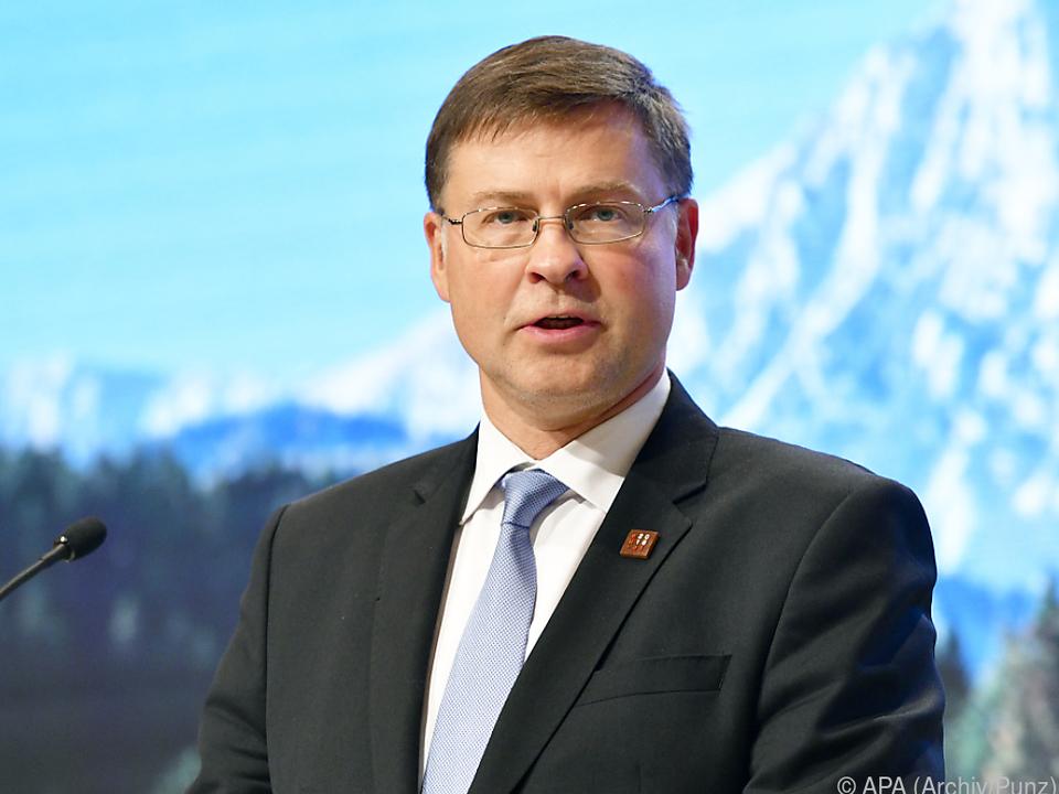 Dombrovskis mit Italiens Budgetentwurf unzufrieden