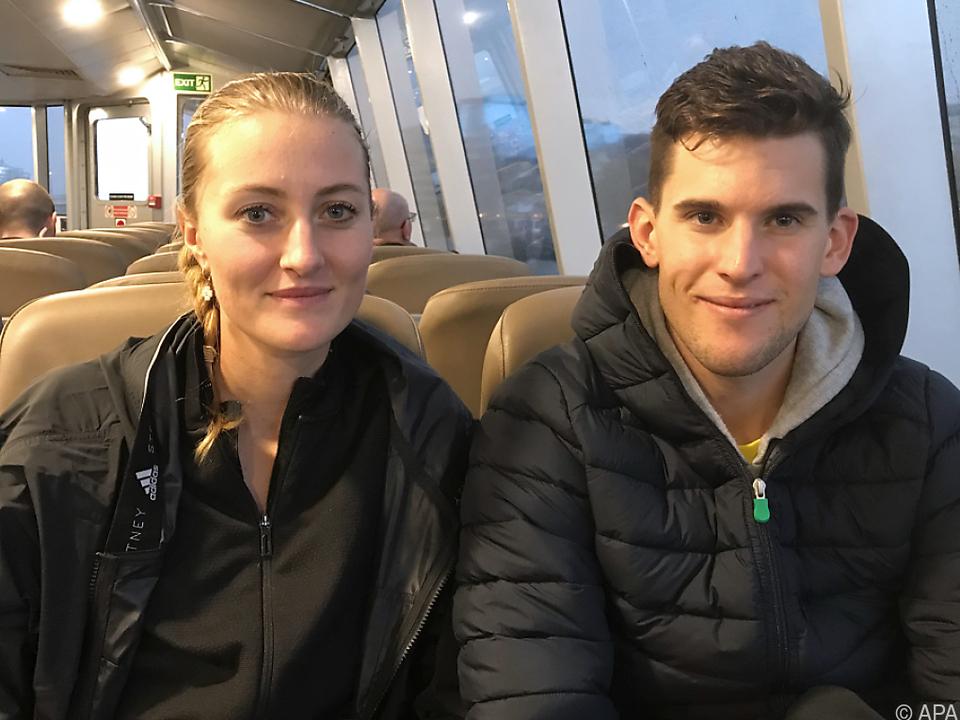 Dominic Thiem und seine Freundin Kristina Mladenovic