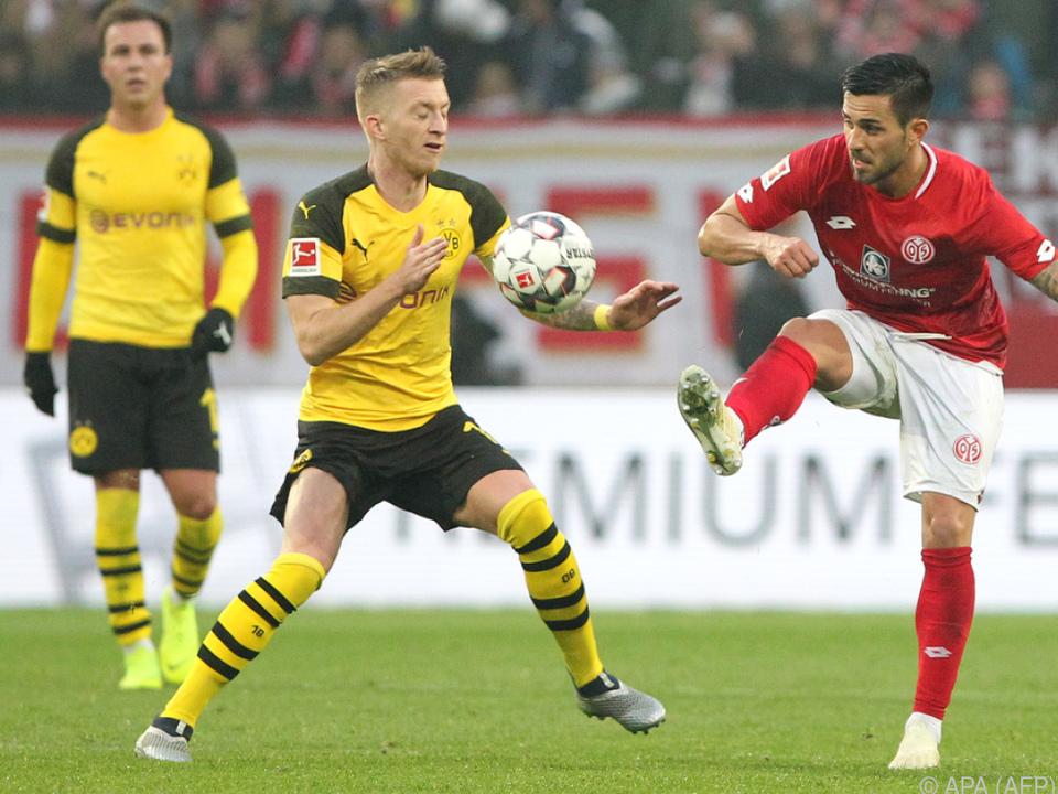 Dortmund setzte sich gegen Mainz mit 2:1 durch