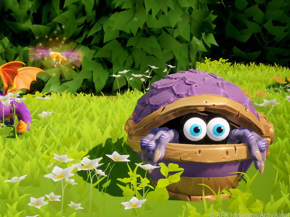 In den bunten Spielwelten trifft Spyro auch auf skurrile Krebstiere
