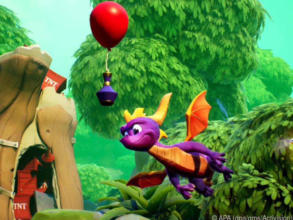 Drache Spyro flattert auch im Remake des Klassikers durch farbenfrohe Welten
