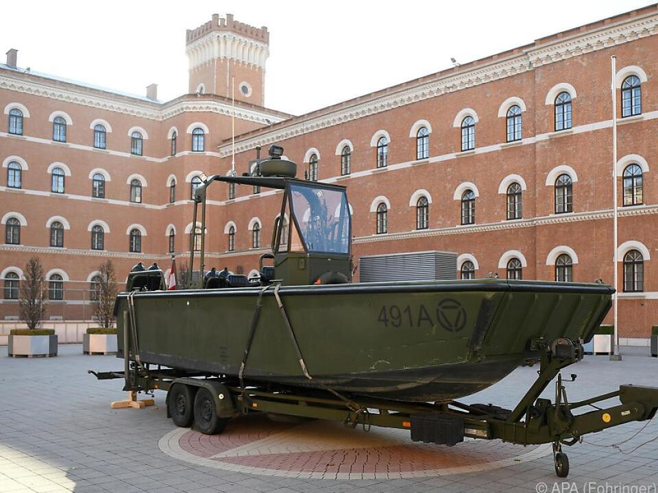 Ein Bundesheer-Boot vom gleichen Typ wie das Unfallboot