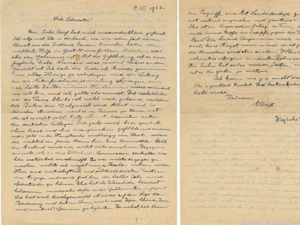 Einstein schrieb Brief an Schwester Maja