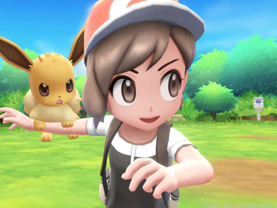 Evoli begleitet den Spieler auf seiner Jagd nach neuen Taschenmonstern