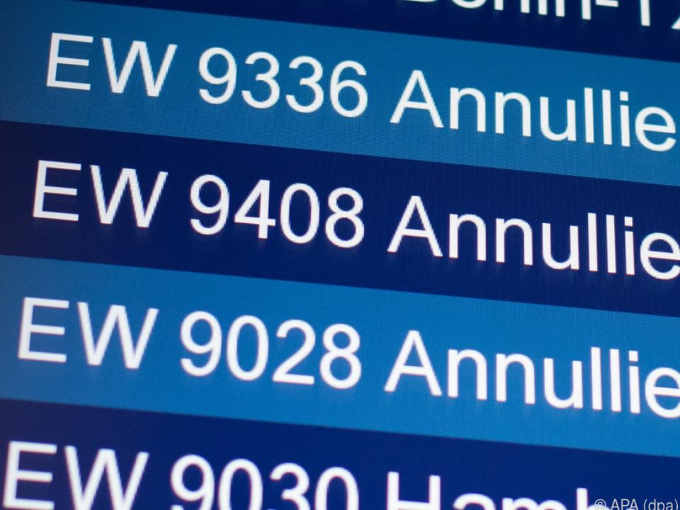 Flugausfälle bei Eurowings am Flughafen Düsseldorf