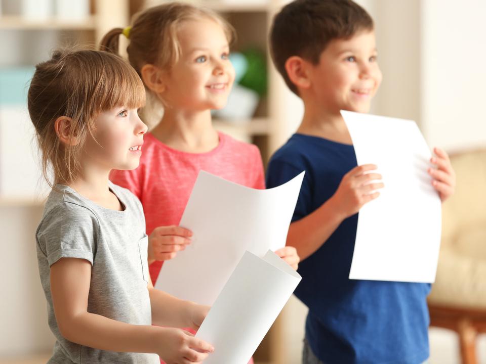 Kinder singen Chor