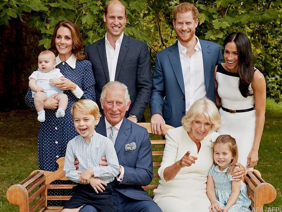 Geburtstagsfoto von Prinz Charles und seiner Familie