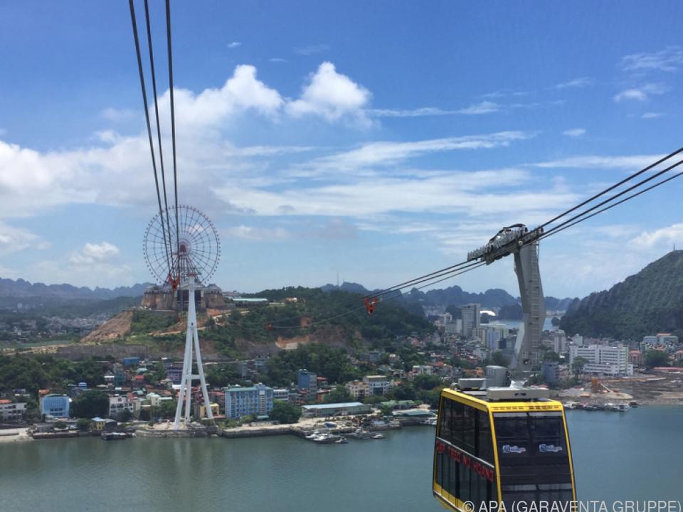 In Vietnam wurde die längste Dreiseilbahn der Welt fertiggestellt