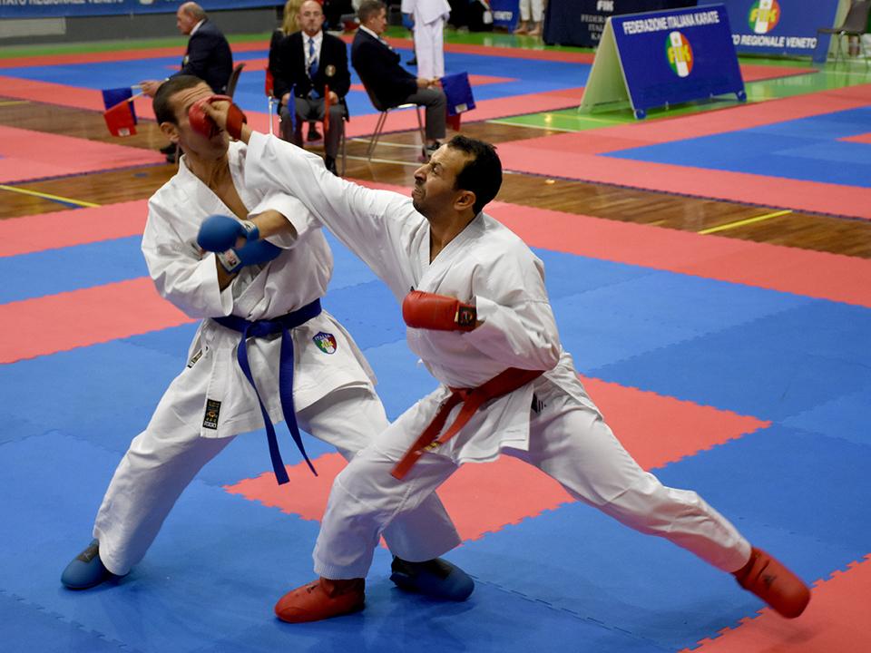 Kumite - der Schwarzgurt Mamdouh Agaybi holte sich tolle Punkte