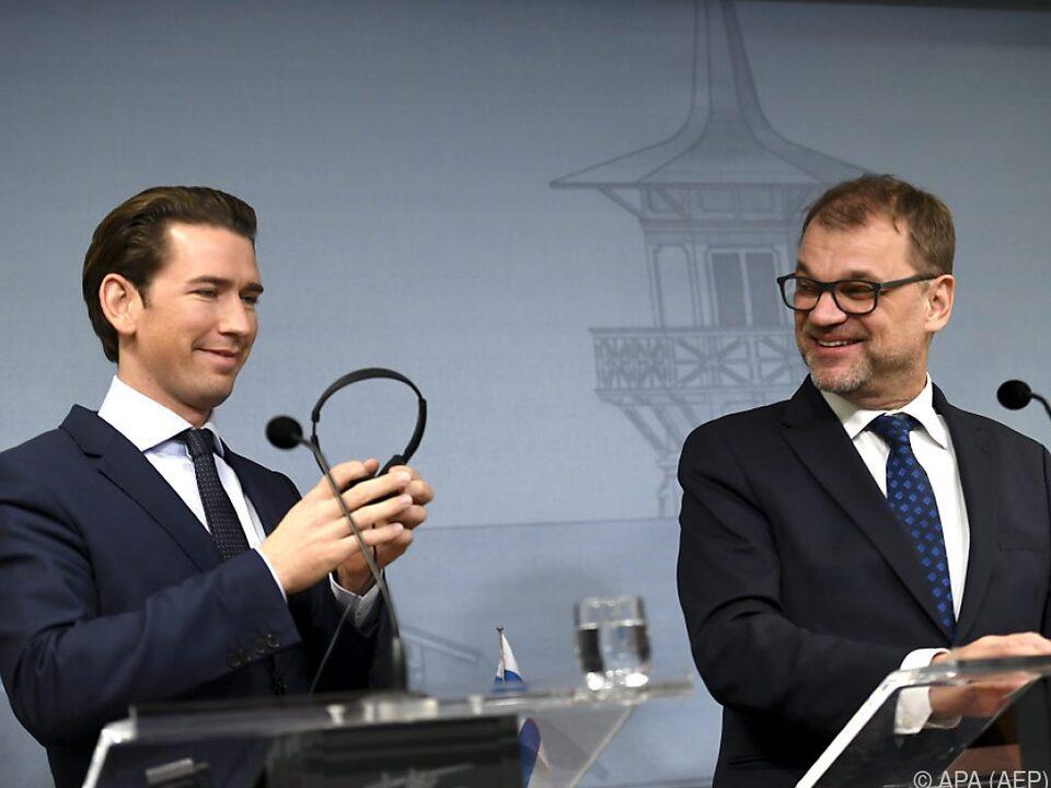 Kurz traf seinen finnischen Amtskollegen Juha Sipilä in Helsinki