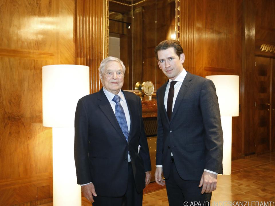 Kurz traf Soros Sonntagabend in Wien