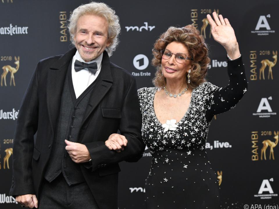 Loren gemeinsam mit Thomas Gottschalk bei der Bambi-Verleihung