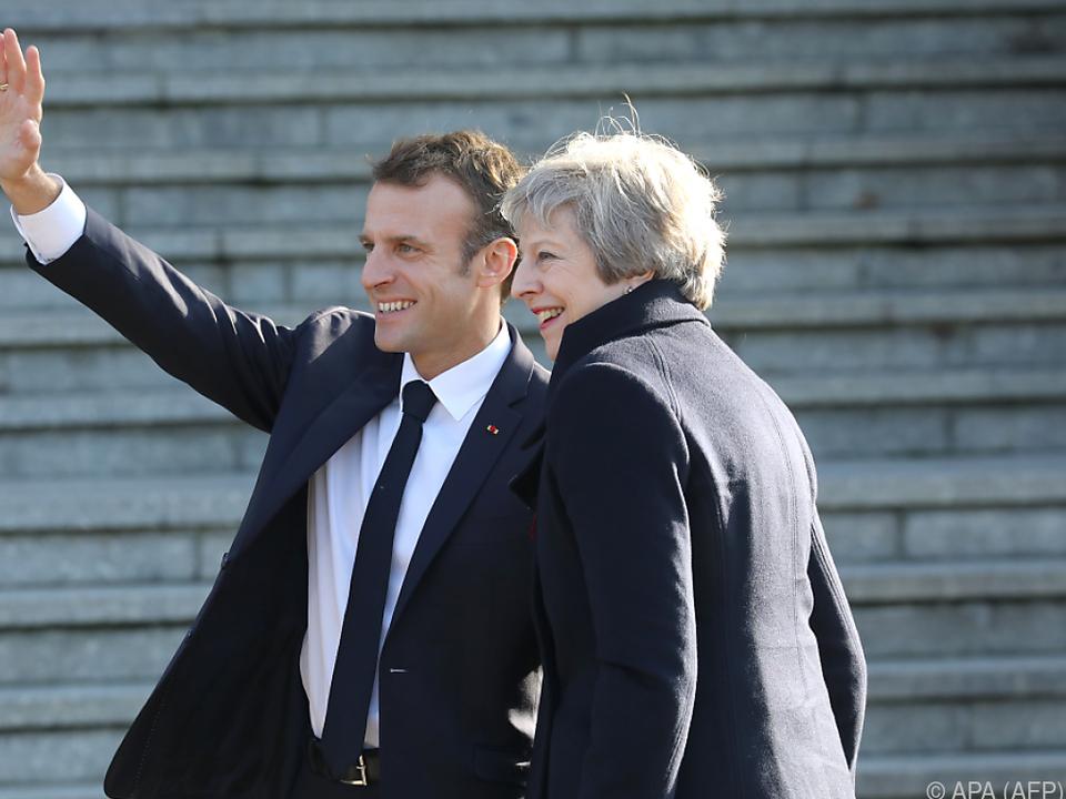 May und Macron gedachten den Opfern der Somme-Schlacht