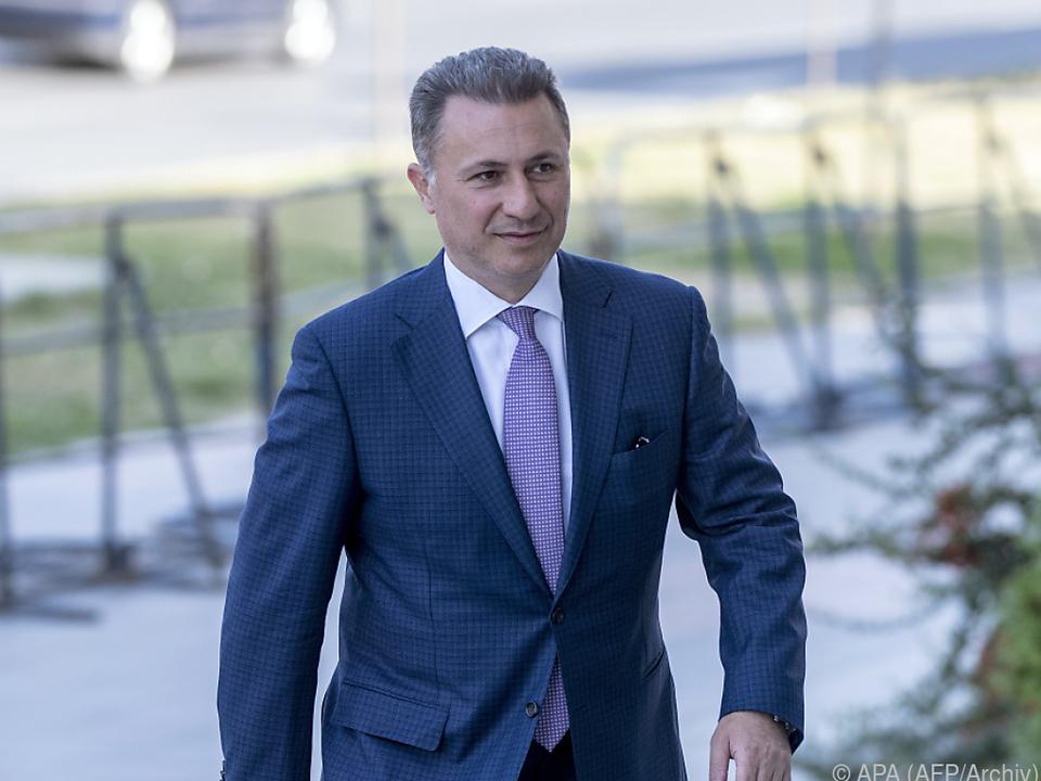 Medien vermuten, Gruevski sei untergetaucht