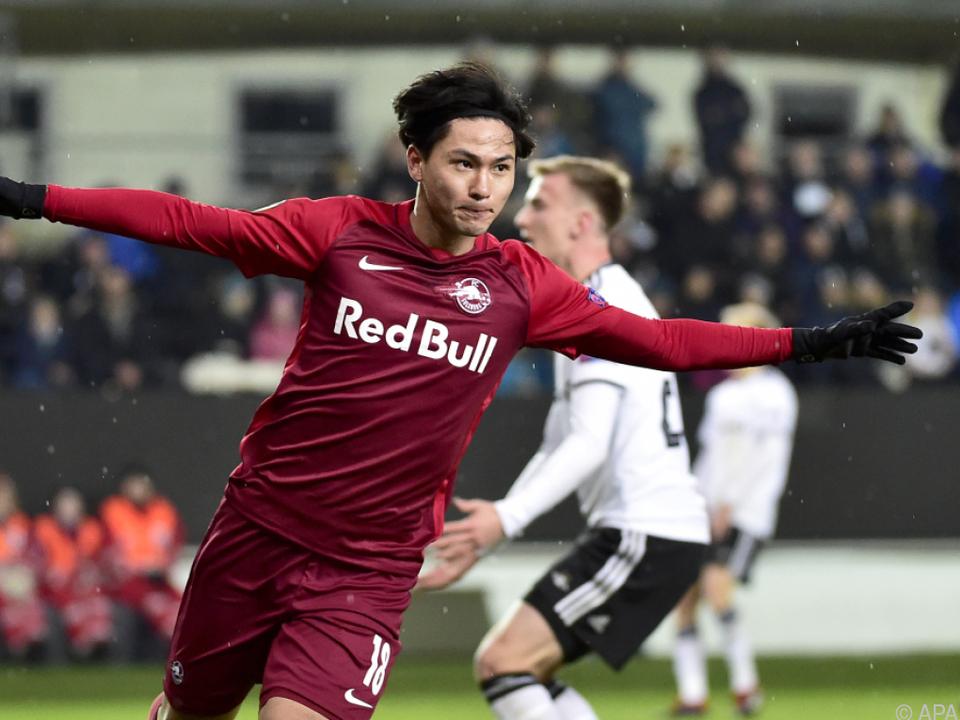 Minamino überzeugte beim Spiel gegen Rosenborg Trondheim