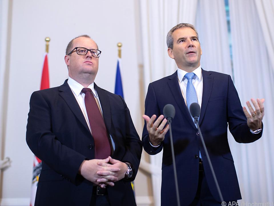 Minister Löger (r.) und Staatssekretär Fuchs