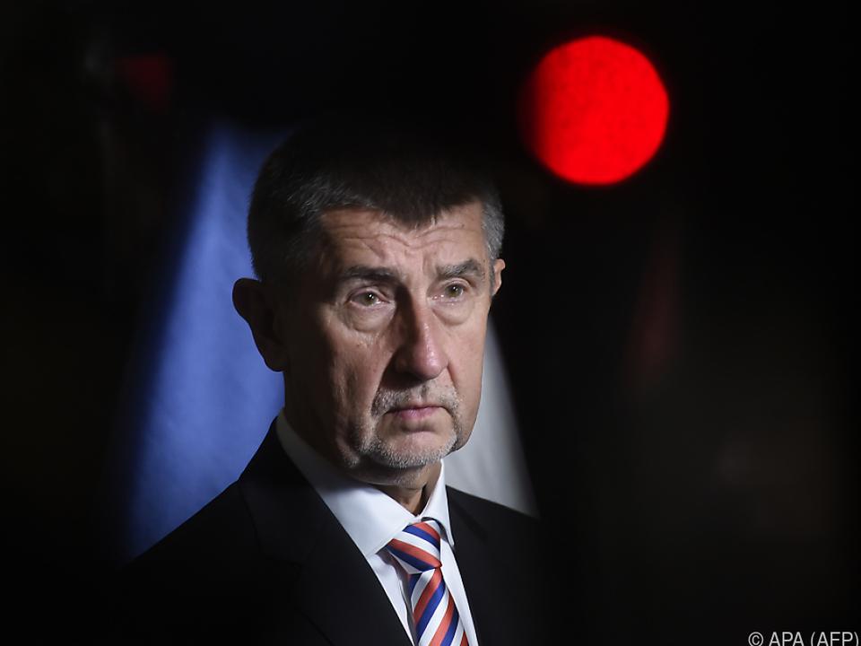 Ministerpräsident Babis gab die Ankündigung bekannt