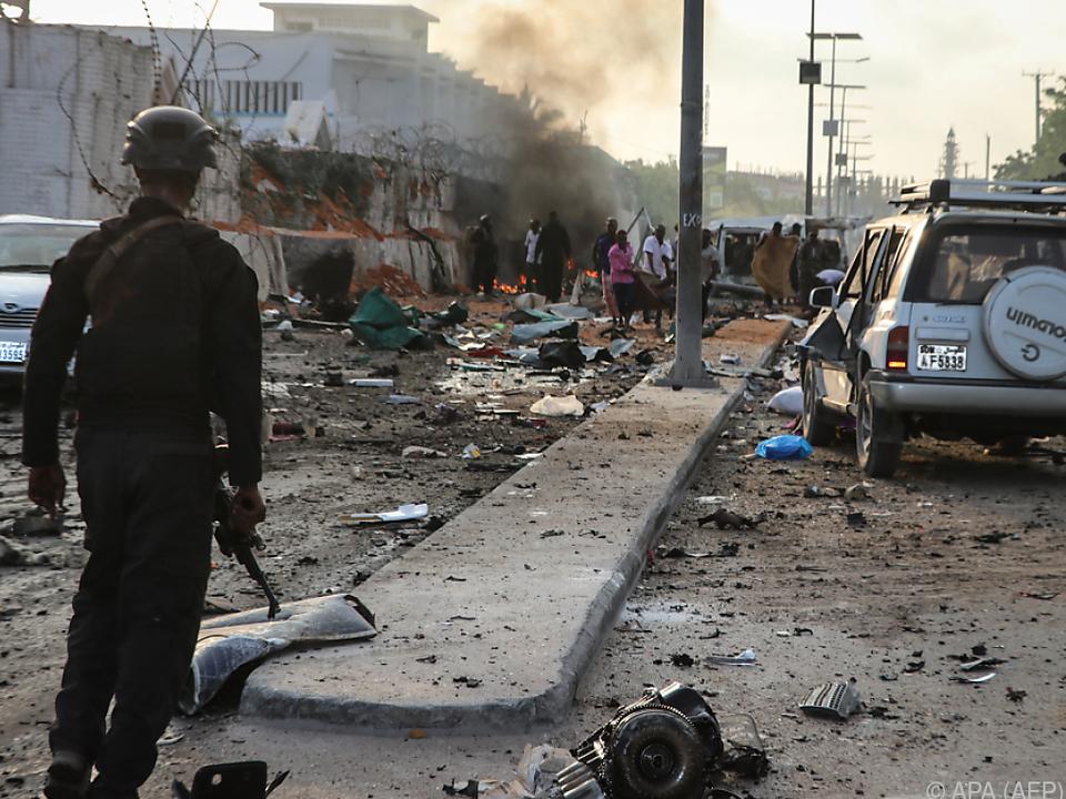 Mogadischu von Selbstmordanschlägen erschüttert