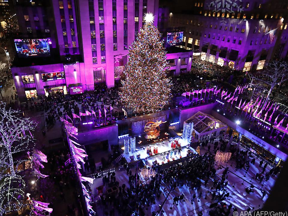New Yorker Weihnachtssaison offiziell gestartet