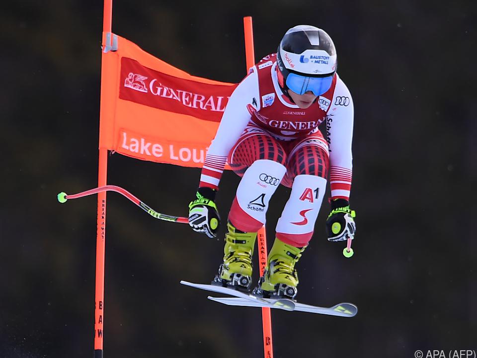 Nicole Schmidhofer fürs Rennen gut gerüstet