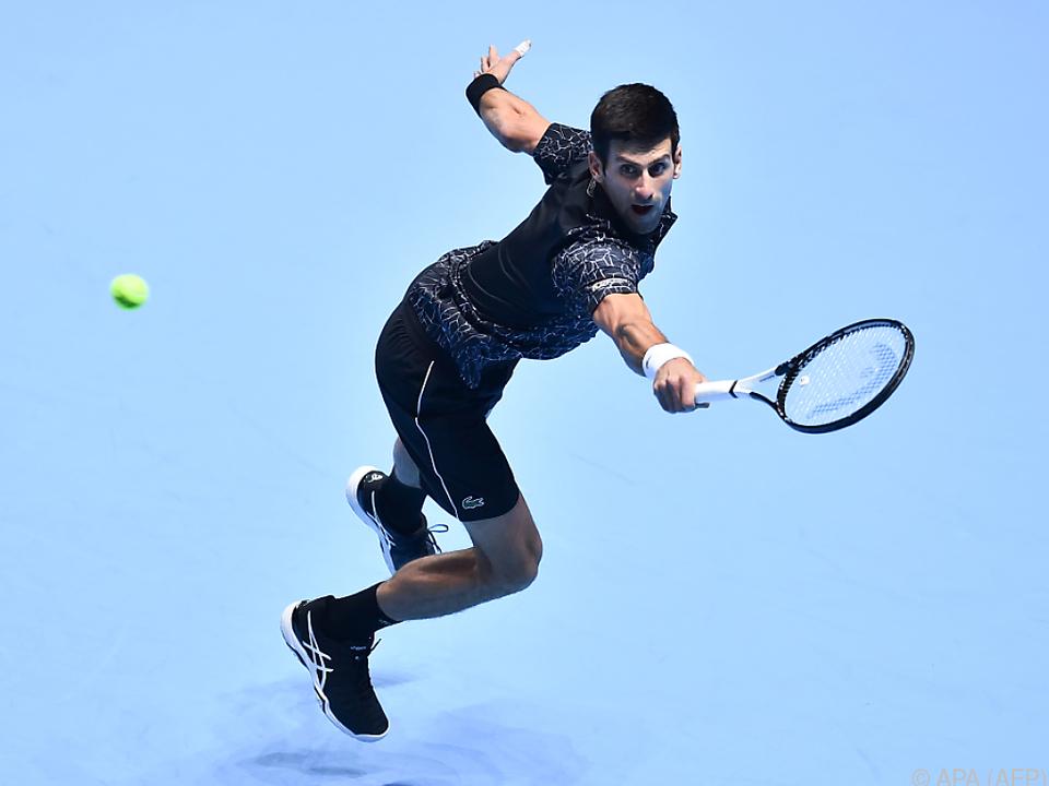 Novak Djokovic gewann auch sein zweites Match bei den ATP-Finals