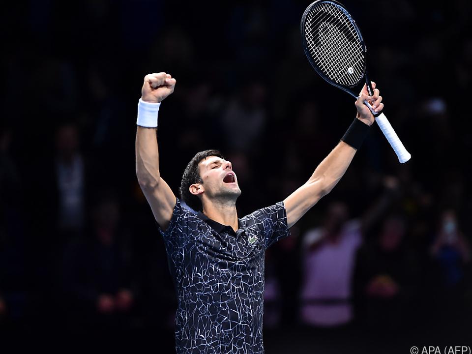 Novak Djokovic jubelt nach seinem Auftaktsieg