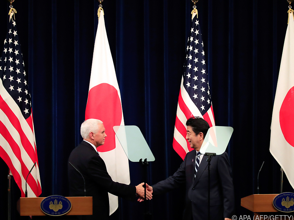 Pence und Abe wollen dem Einfluss Chinas entgegenwirken