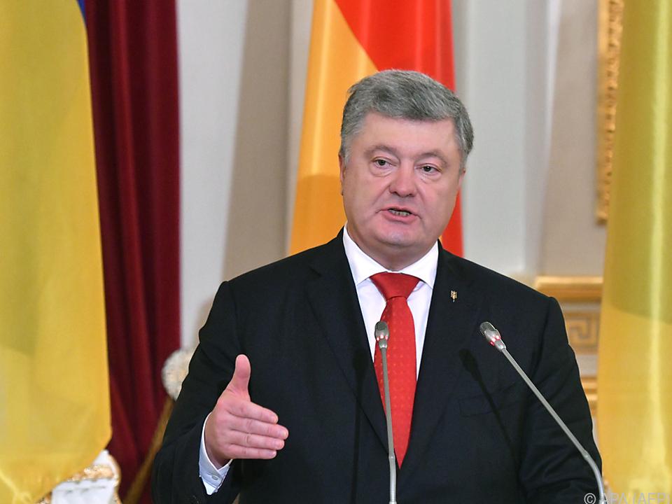 Präsident Poroschenko berief den Krisenstab ein