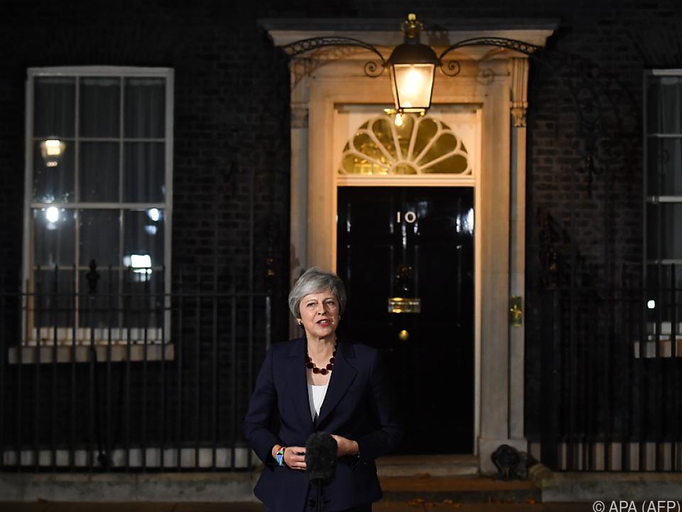 Premierministerin May verkündete die Einigung