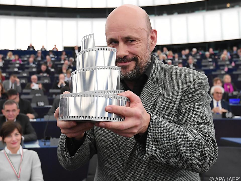 Regisseur Erlingsson zeigte sich erfreut in seiner Dankesrede