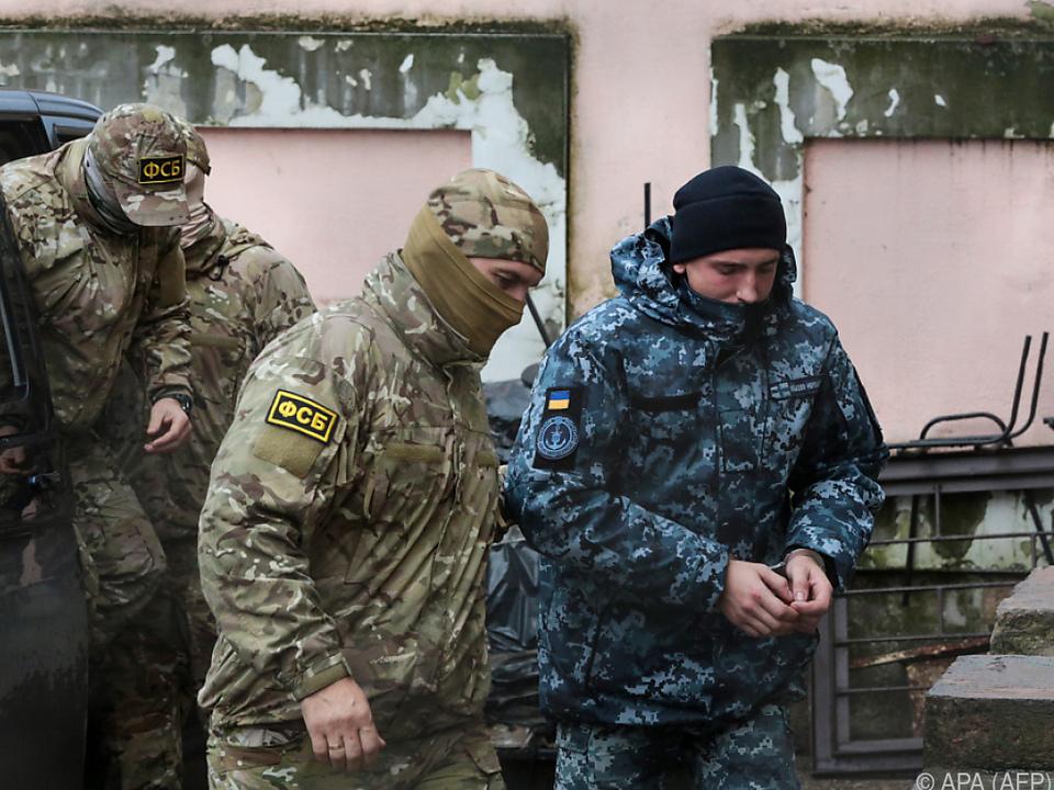 Russland hält ukrainische Marinesoldaten fest