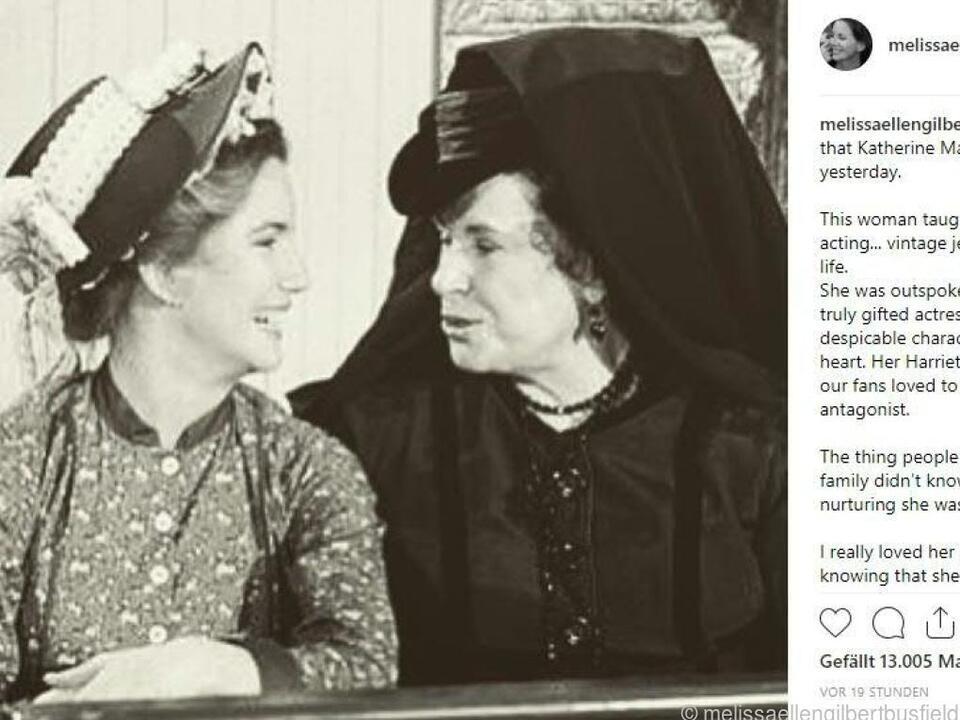 Schauspielkollegin Melissa Gilbert würdigte MacGregor auf Instagram