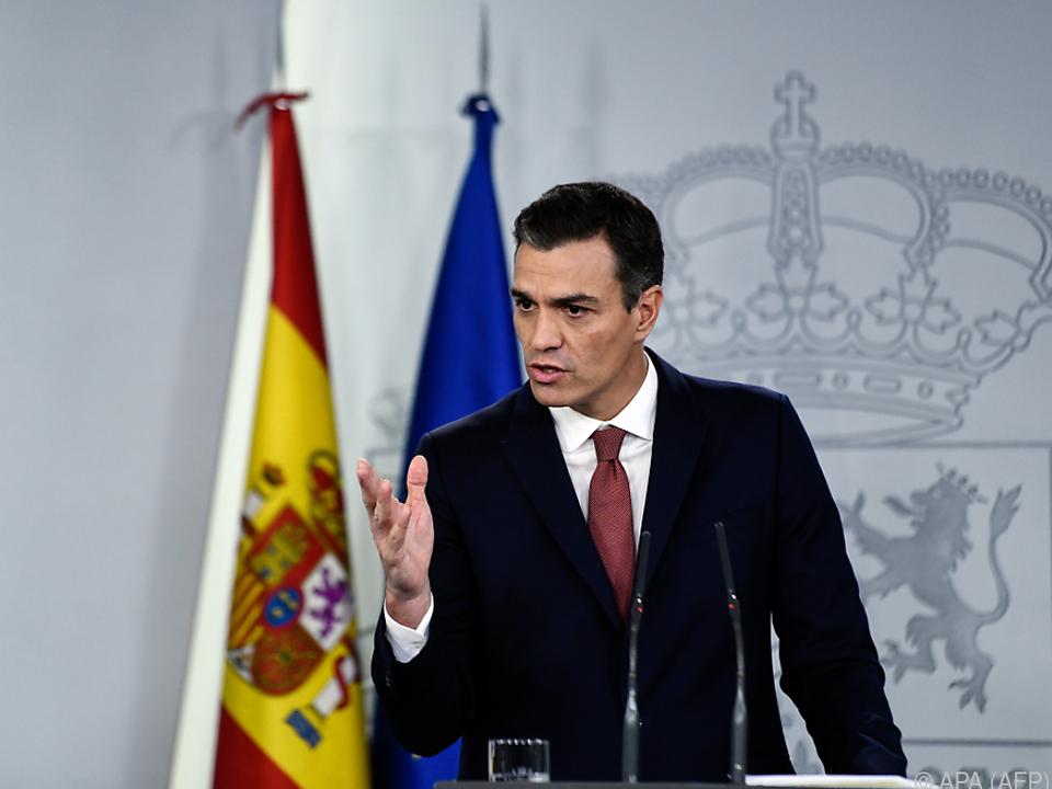 Spaniens Regierungschef Pedro Sanchez