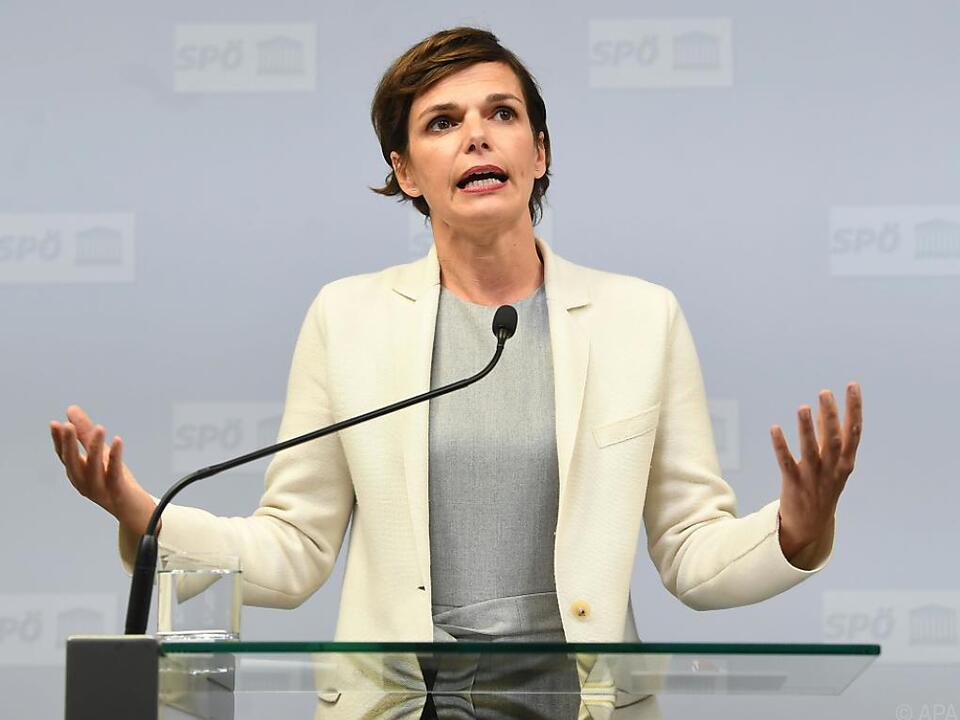 SPÖ-Vorsitzende Rendi-Wagner übte Kritik an der Regierung
