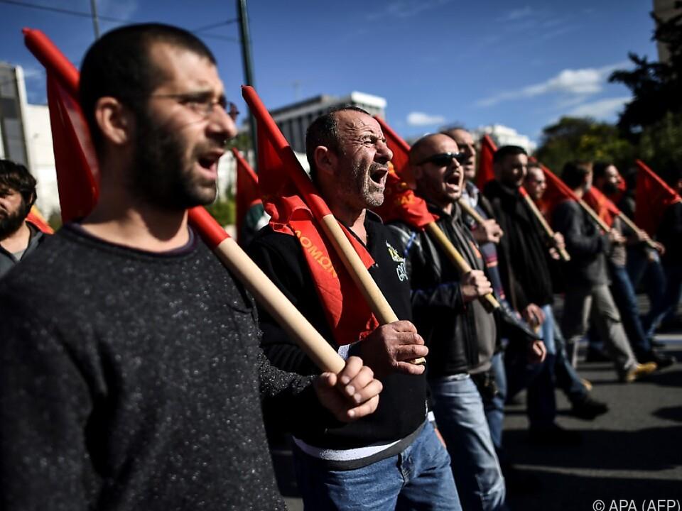 Streik der Gewerkschaften in Griechenland
