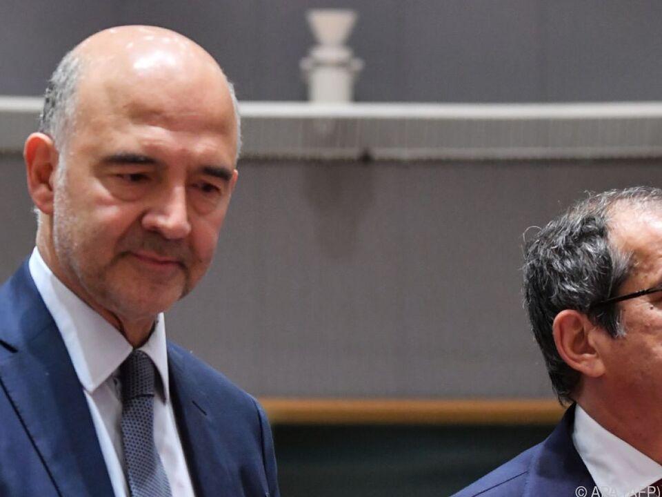 Tria und Moscovici bei der Eurogruppen-Tagung in Brüssel