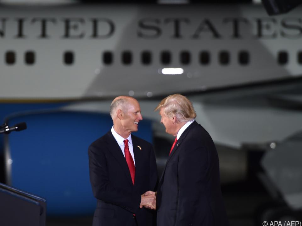 Trump ergriff Partei für den Senatskandidaten Rick Scott