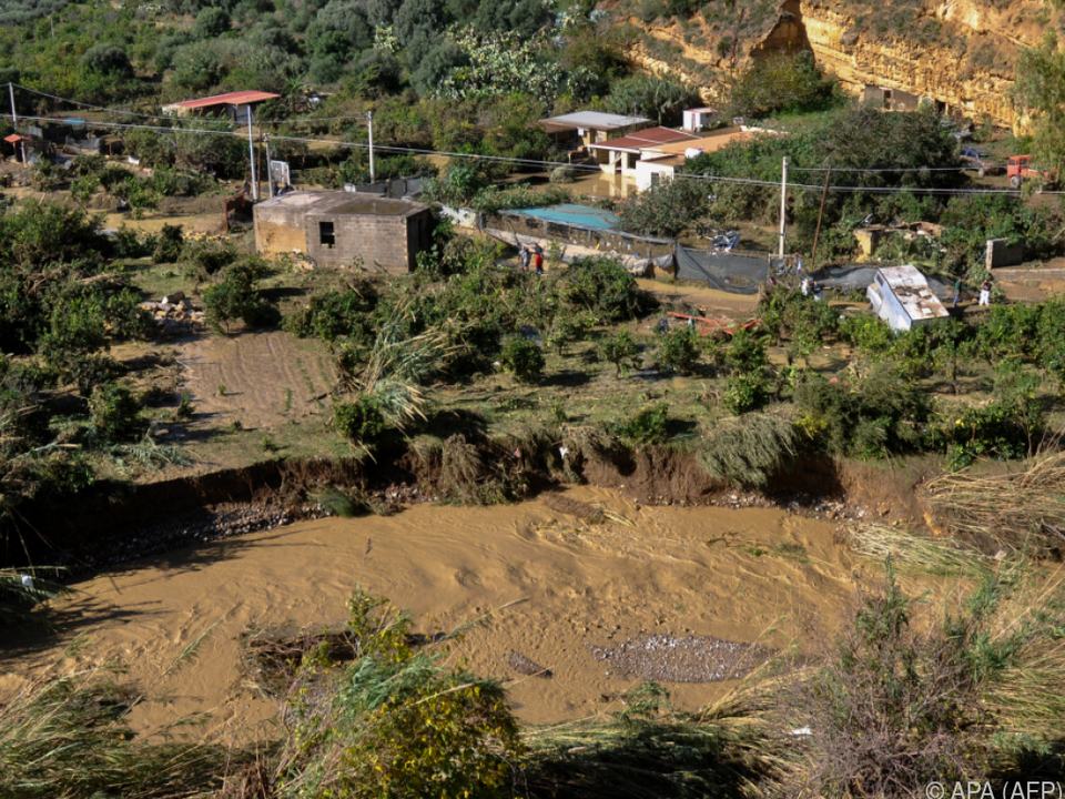 Überschwemmungen in Sizilien