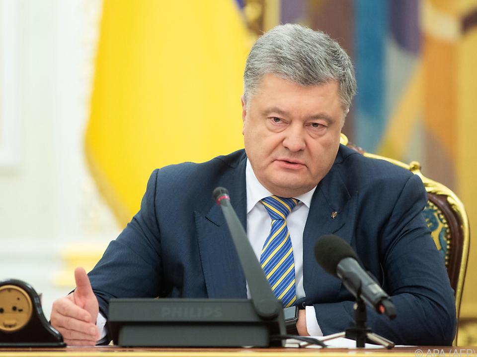 Ukrainischer Präsident Petro Poroschenko warnt vor Krieg