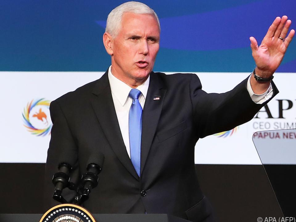 US-Vizepräsident Mike Pence beim APEC-Gipfel in Papua-Neuguinea