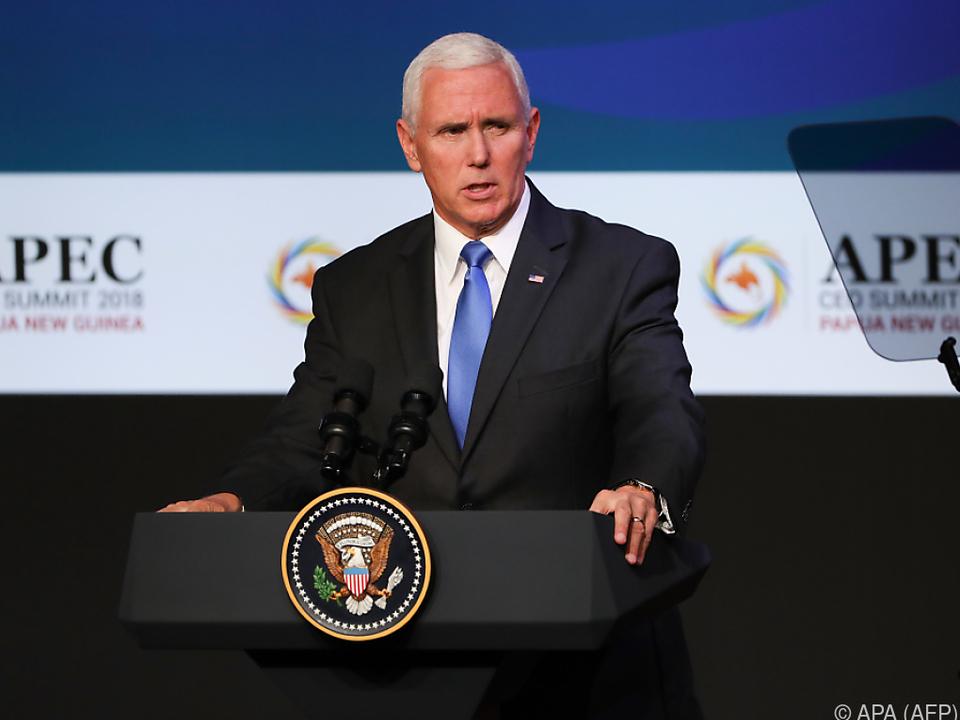 US-Vizepräsident Pence äußerte sich zum Fall Khashoggi