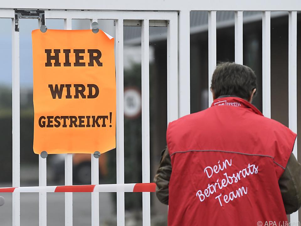 Warnstreik in Wien