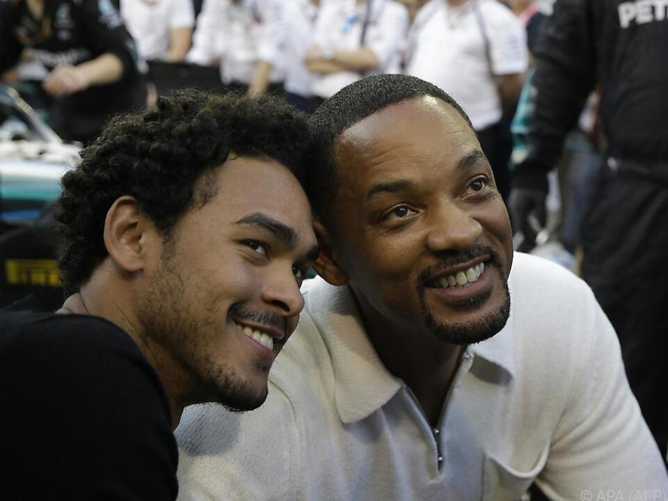 Will Smith mit seinem ältesten Sohn in Abu Dhabi