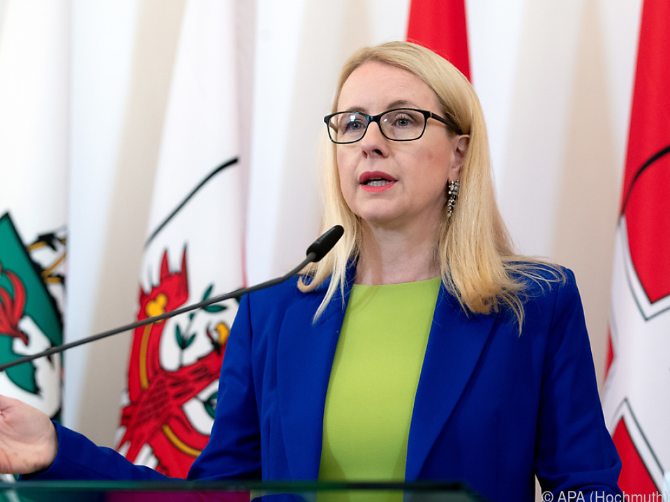 Wirtschaftsministerin Schramböck stellte das Gesetz vor