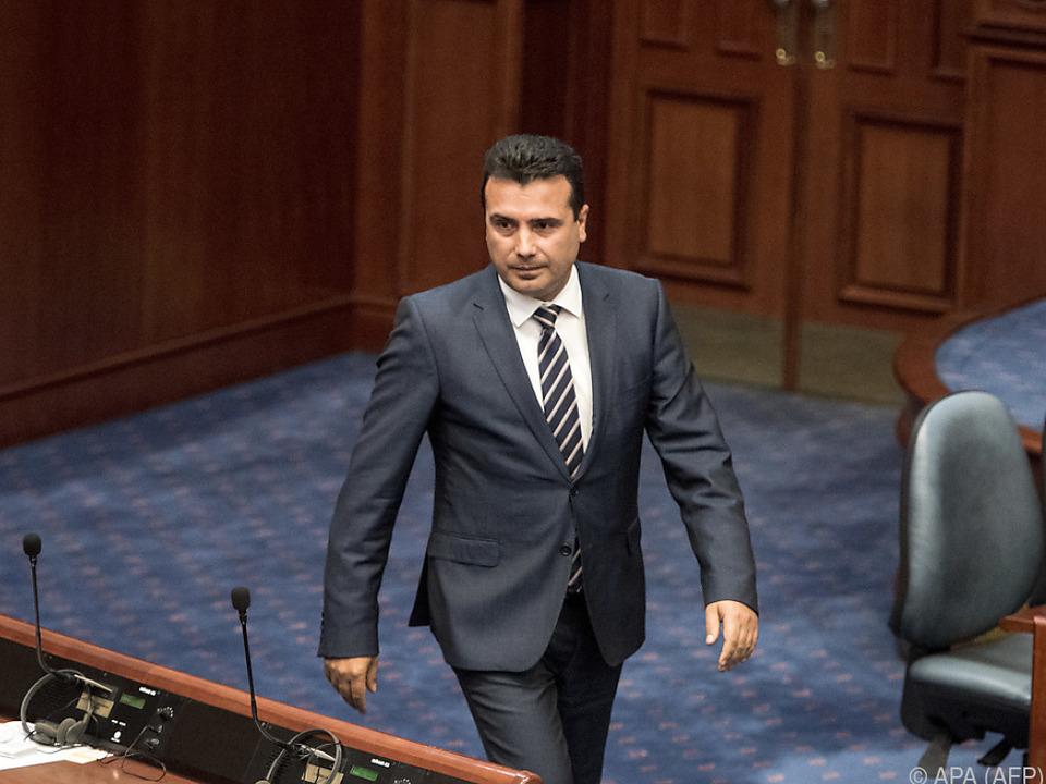 Zaev erläuterte die geplanten Änderungen